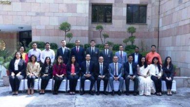 الدبلوماسيون المصريون خلال الدورة التدريبية بالهند