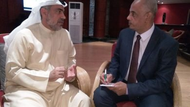 د. سيف الجابرى فى حواره مع الزميل مصطفى ياسين